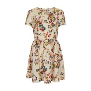 TOPSHOP Cross Stitch Floral Dress